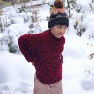 Kız Çocuk Yarasa Kol Kazak Yapılışı 2