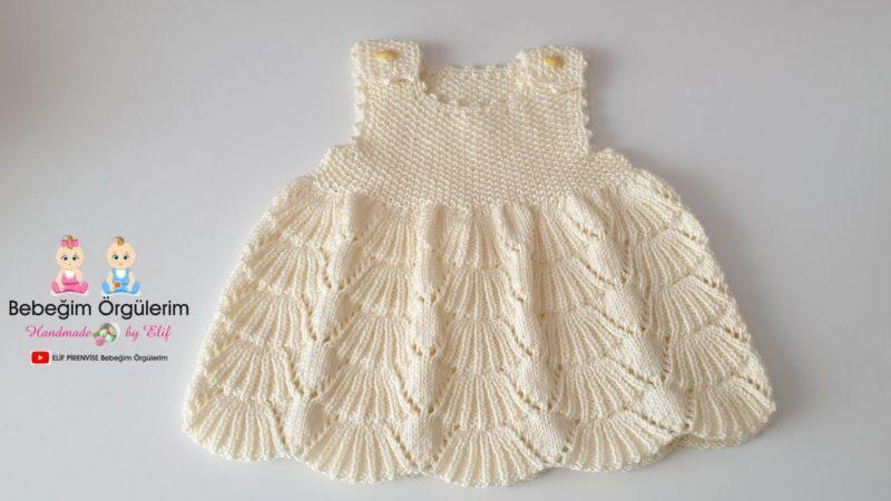 Örgü Bebek Elbise Modelleri 1