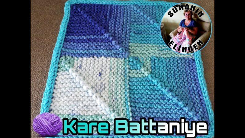 Rubik Küp Battaniye Yapımı 10