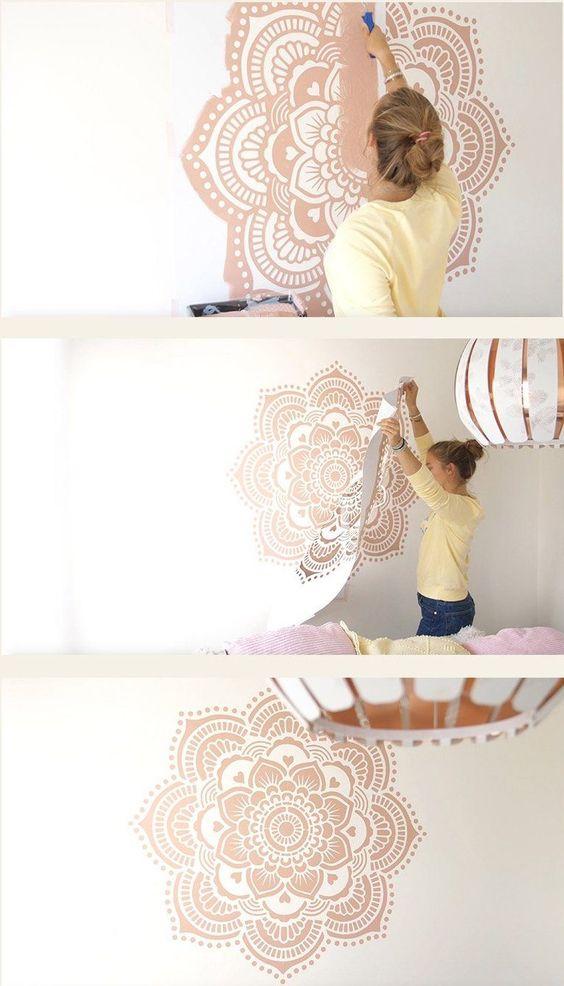 20 Duvar Boyama Şablonları 13