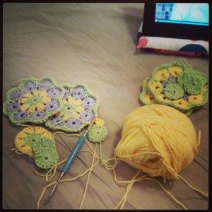 Afrika Çiçeği Battaniye Modelleri 5