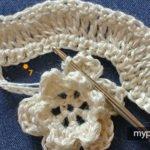 Çiçekli Zikzak Battaniye Yapılışı 10