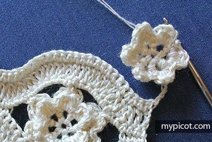 Çiçekli Zikzak Battaniye Yapılışı 19