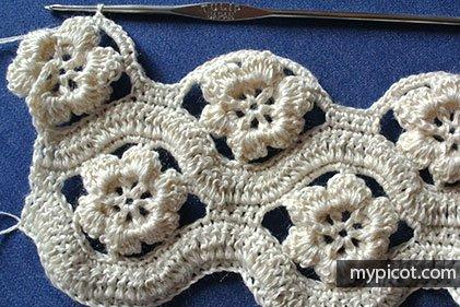 Çiçekli Zikzak Battaniye Yapılışı 27