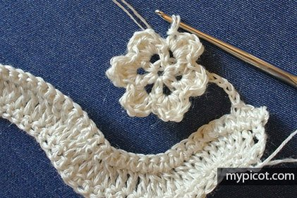 Çiçekli Zikzak Battaniye Yapılışı 4