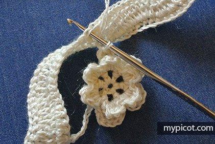 Çiçekli Zikzak Battaniye Yapılışı 8