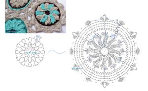 Örgü Çiçek Motifi Modelleri