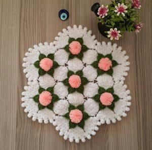 Ponpon Çiçeği Lif Nasıl Örülür? 1