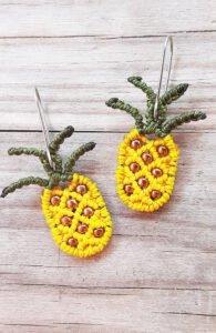 Makrome Ananas Küpe Nasıl Yapılır?