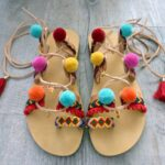 Ponponlu Sandalet Yapımı 7