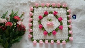 Suzan'ın Çiçek Bahçesi Kare Lif Yapılışı 1
