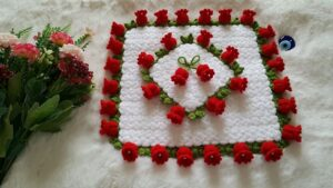 Suzan'ın Çiçek Bahçesi Kare Lif Yapılışı 2