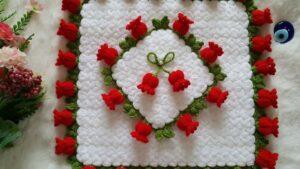 Suzan'ın Çiçek Bahçesi Kare Lif Yapılışı