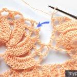 Deniz Kabuğu Havlu Kenarı Yapımı Anlatımlı 17