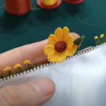İğne Oyası Ay Çiçeği Yapımı