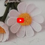 İğne Oyası Papatya Çiçek Yapımı 2