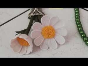 İğne Oyası Papatya Çiçek Yapımı