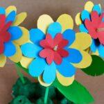 Kartondan Çiçek Yapımı Etkinlikleri