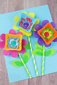 Kartondan Çiçek Yapımı Etkinlikleri 16