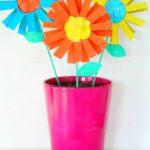 Kartondan Çiçek Yapımı Etkinlikleri 24