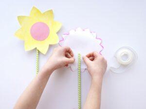Kartondan Çiçek Yapımı Etkinlikleri 26