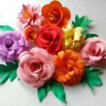Kartondan Çiçek Yapımı Etkinlikleri 2