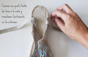 Örgü Yazlık Ayakkabı Yapılışı 2
