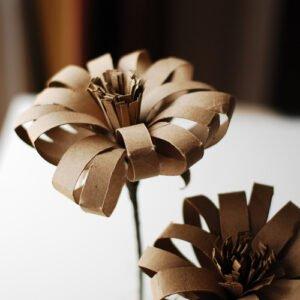Tuvalet Kağıdı Rulosundan Çiçek Yapımı 3