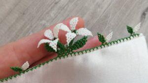 3 Boyutlu Çiçek İğne Oyası