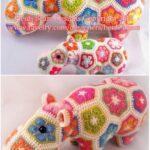 Afrika Çiçeği Örgü Modelleri 10