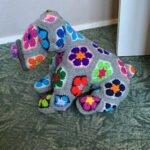Afrika Çiçeği Örgü Modelleri 14