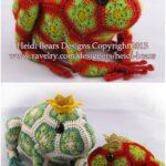 Afrika Çiçeği Örgü Modelleri 2