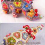 Afrika Çiçeği Örgü Modelleri 4