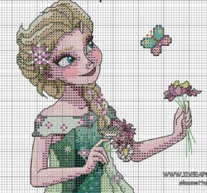 Kanaviçe Elsa Şablon 7