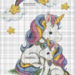 Kanaviçe Unicorn Şeması 2