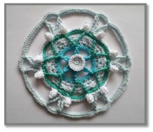 Örgü Mandala Modelleri Yapılışı 19