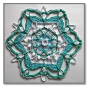 Örgü Mandala Modelleri Yapılışı 20