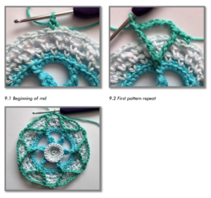 Örgü Mandala Modelleri Yapılışı 4