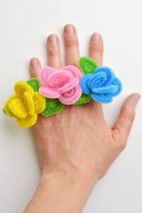 Şönilden Çiçek Yüzük Nasıl Yapılır? 11