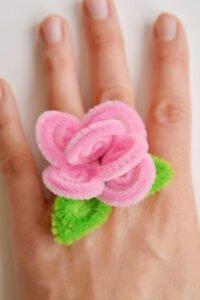 Şönilden Çiçek Yüzük Nasıl Yapılır? 12