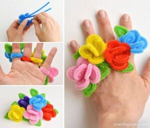 Şönilden Çiçek Yüzük Nasıl Yapılır?