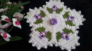 Menekşe Çiçeği Lif Yapılışı