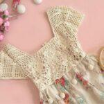 Üstü Örgü Altı Kumaş Elbiseler 9
