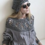 Üstü Örgü Altı Kumaş Elbiseler 34