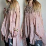 Üstü Örgü Altı Kumaş Elbiseler 39