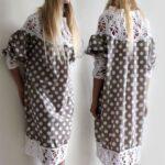 Üstü Örgü Altı Kumaş Elbiseler 51