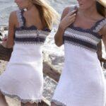 Üstü Örgü Altı Kumaş Elbiseler 69