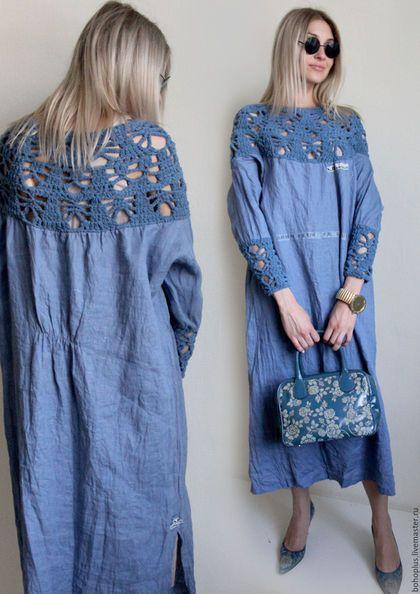 Üstü Örgü Altı Kumaş Elbiseler 7