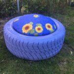 Araba Lastiği ile Bahçe Dekorasyonu