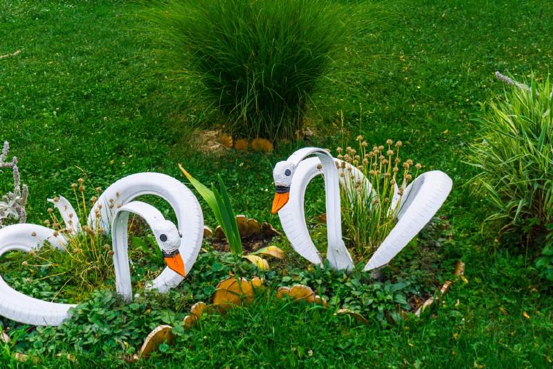 Araba Lastiği ile Bahçe Dekorasyonu 21
